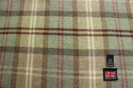 Shetland Tweed Plaid Fabric BZ91
